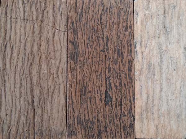 Artificial bark stone
