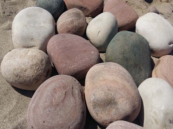 Multicolored pebbles