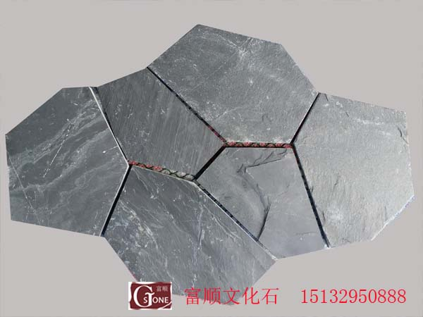 18Black SLATE with ice cracks